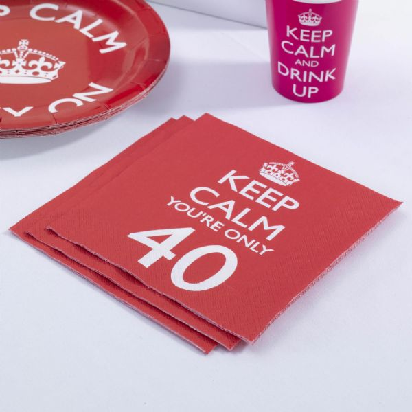 Keep Calm You're Only 40 Napkins (16)